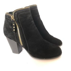 Limelight Kendra Zip Up Ankle Bootie Black size 9